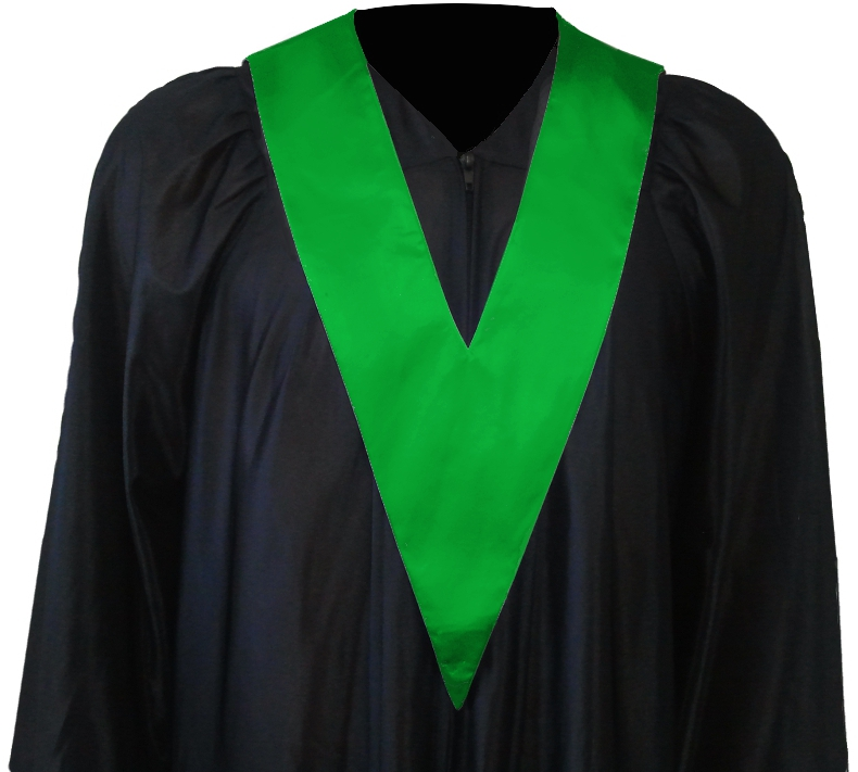 Graduation Gown with Student-Tie in colour green | Square Caps®